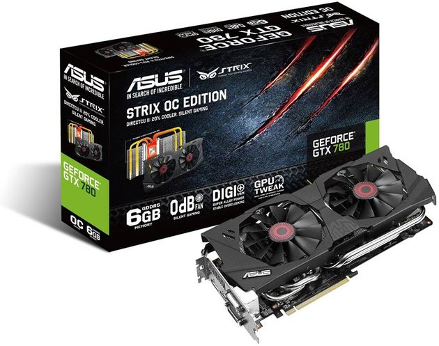 ASUS GeForce GTX 780 z 6 GB pamięci wideo i cichszym chłodzeniem