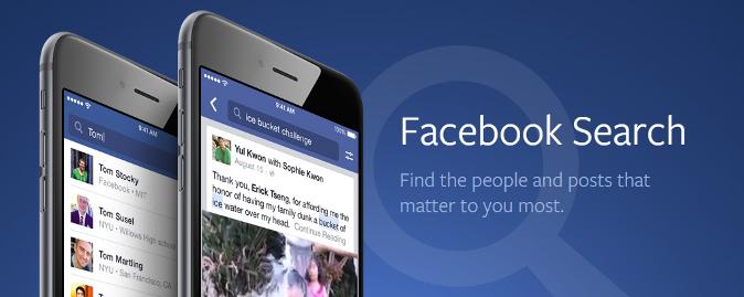 Facebook uruchamia funkcje wyszukiwania postów
