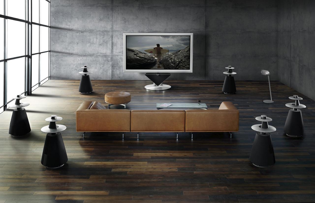 Zmotoryzowany telewizor, który sam się ustawi na widza