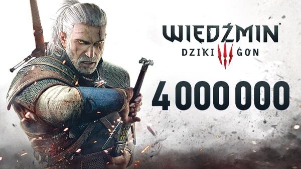 Polski sukces - 4 miliony sztuk Wiedźmina 3 w dwa tygodnie!