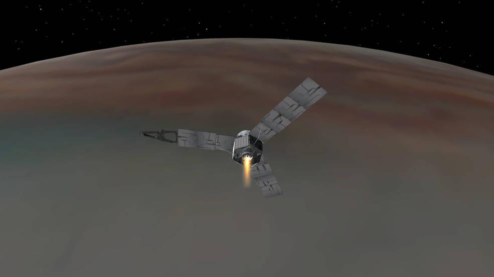Sonda Juno już na orbicie Jowisza