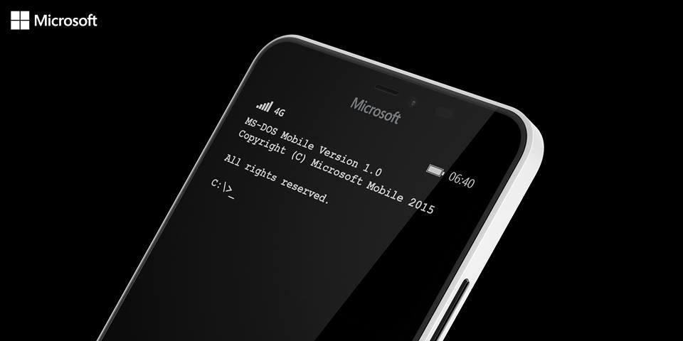 MS-DOS dostępny mobilnie na Windows Phone :D