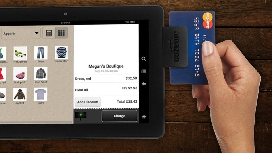 Amazon wprowadza czytnik kart - konkurencja dla Square i PayPal!?