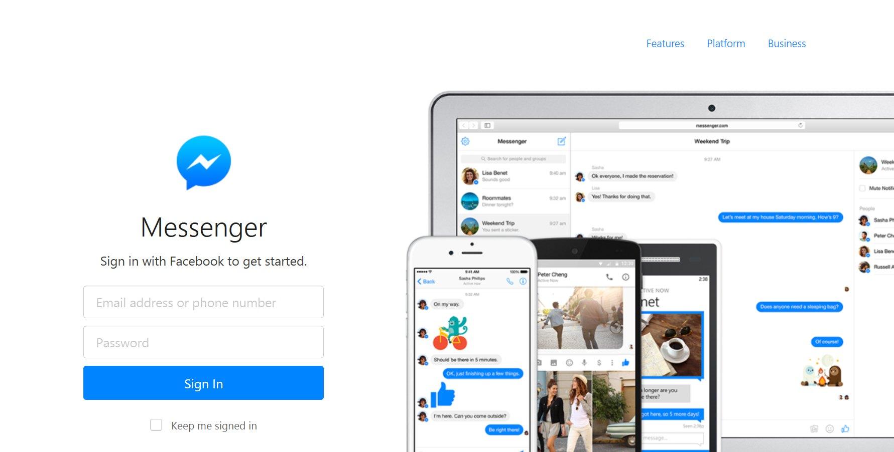 Messenger w przeglądarce! - świetne działa i wygląda